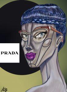 FASHION ILLUSTRATION FOR PRADA DI STEFANO LUCIA