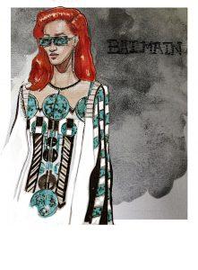 FASHION ILLUSTRATION FOR BALMAIN DI STEFANO LUCIA
